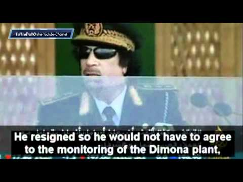 GADDAFI SPEECH : talks about Obama.