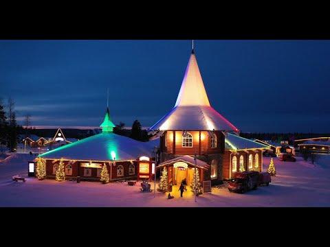 Santa Claus Village in Lapland in 4K video: Christmas Rovaniemi Finland