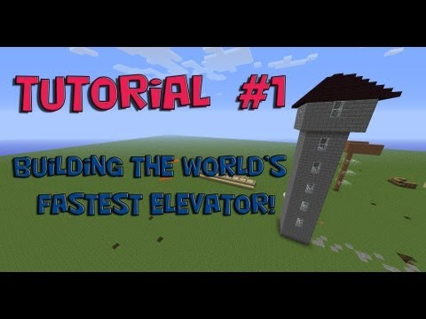 MineCraft Tutorial - How to Build The World's Fastest Elevator!