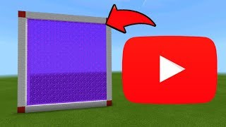 Minecraft Pe How To Make a Portal To The YouTube Dimension - Mcpe Portal To YouTube!!!