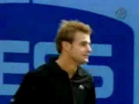 Andy Roddick and Andre Agassi play for laughs