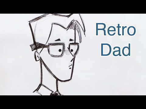 Draw a Retro Style Cartoon Dad (Step by Step)