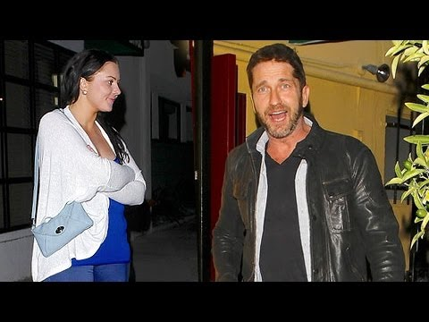 Gerard Butler Wards Off Young Lady At Dan Tana's