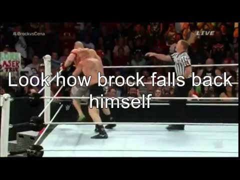 Prove that wwe is fake, john cena vs brock lesnar - YouTube