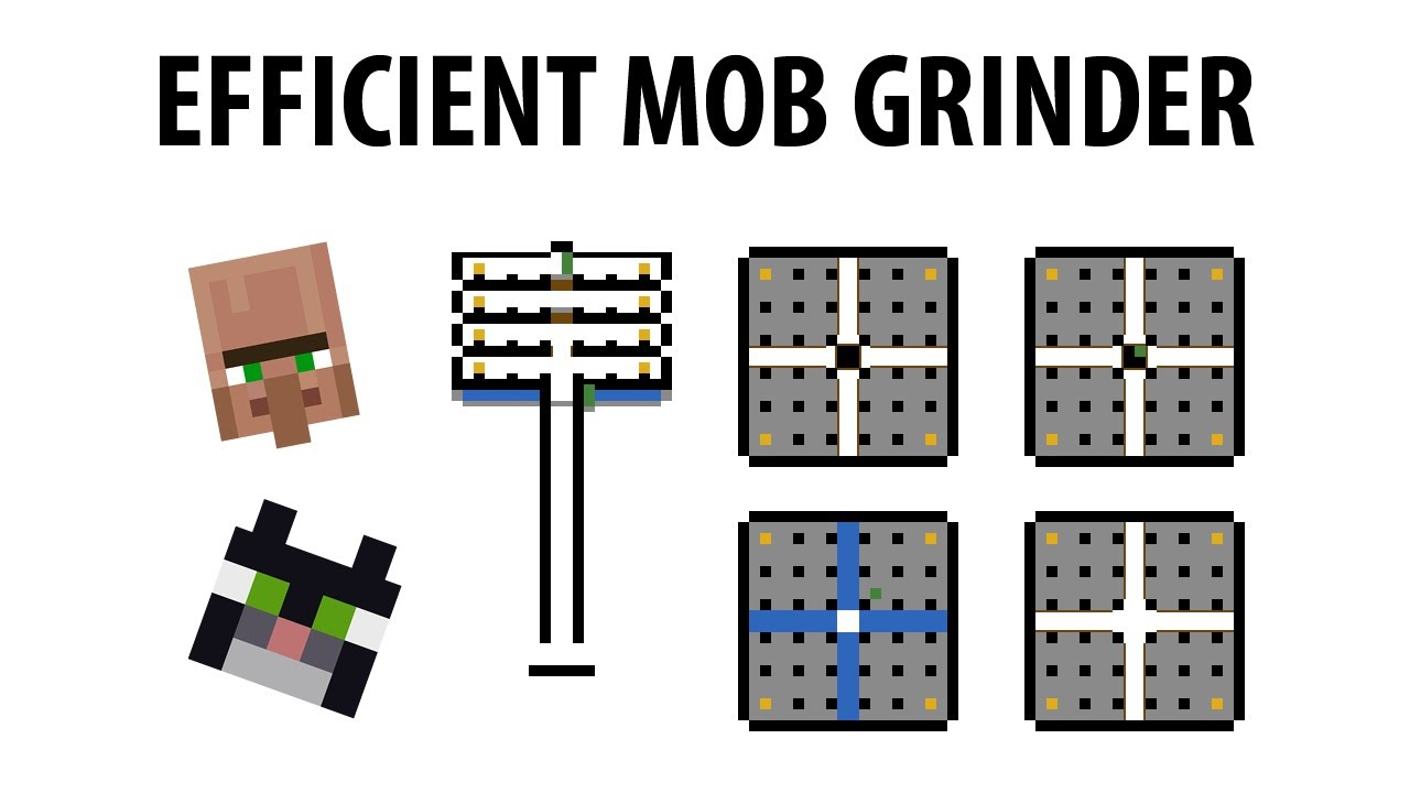 Mtandi 39 s highly efficient mob grinder tutorial for for Minecraft 3d blueprint maker