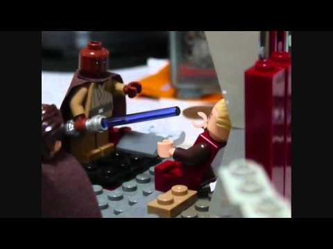 LEGO star wars palpatine's arrest Mace windu vs Palpatine