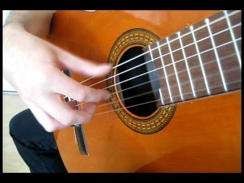 Francisco Tárrega classical guitar exercise - triplet form