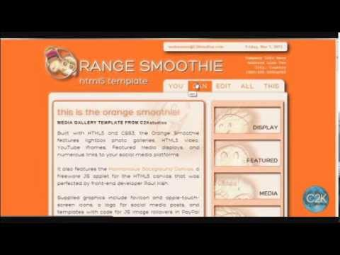 The Orange Smoothie HTML5 Media Gallery Website Template