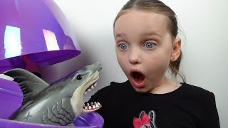 "Giant Surprise Shark Eggs Attack Annabelle ""Starring Rex Sharky & Chompers Hidden Egg"""