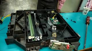 01. #advance6075,6055,8105 how to open laser unit and fix err code 0061-0001