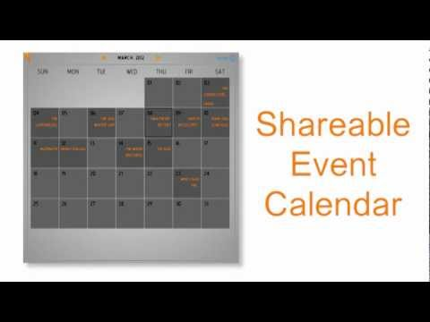 calendar to share on your website, Facebook wall, or between mobile