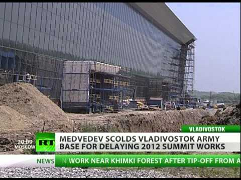 Medvedev scolds Vladivostok army base for delaying 2012 summit works
