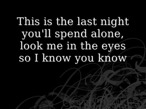 Skillet- The Last Night-Lyrics Video