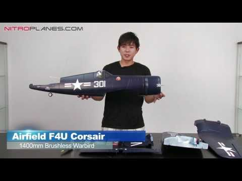 Airfield 1400mm Brushless F4U Corsair Warbird Unboxing Overview