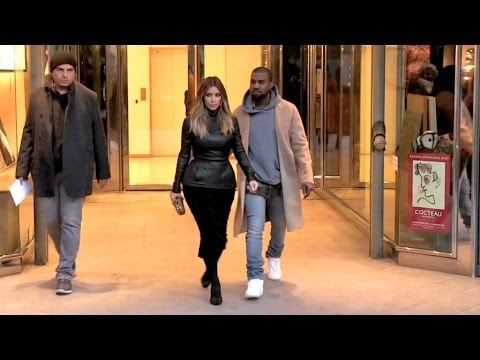 Exclusive - Kim Kardashian And Kanye West Visit A Penthouse At The Bristol Hotel In Paris video