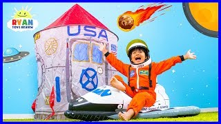 Why Do Astronauts Wear Space Suits???   Educational Video for kids with Ryan ToysReview