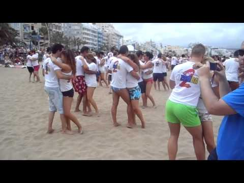 2º Flash Mob Kizomba En La Playa De Las Canteras video