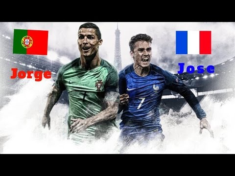 FINAL EUROCOPA 2016 PS4 FRANCIA (Jose) VS PORTUGAL (Jorge)