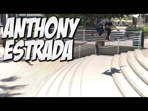 CRAZY SKATE DAY WITH ANTHONY ESTRADA !!! - A DAY WITH NKA -