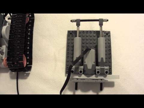 Lego NXT Power functions converter and linear actuator