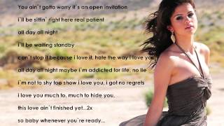 Selena Gomez - Come and Get it Lyrics