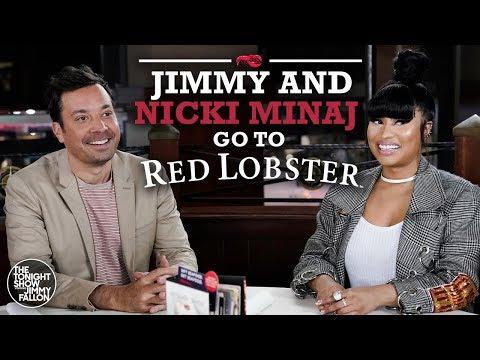 Nicki Minaj and Jimmy Fallon Go to Red Lobster