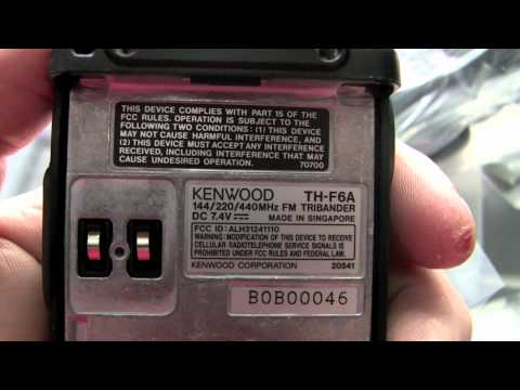 Unboxing my new Kenwood TH-F6A handheld amateur radio.