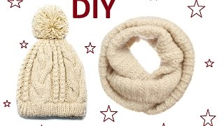 DIY:ШЬЕМ ШАПКУ и ШАРФ из СТАРОГО СВИТЕРА\HOW TO SCARF, HAT FROM SWEATER