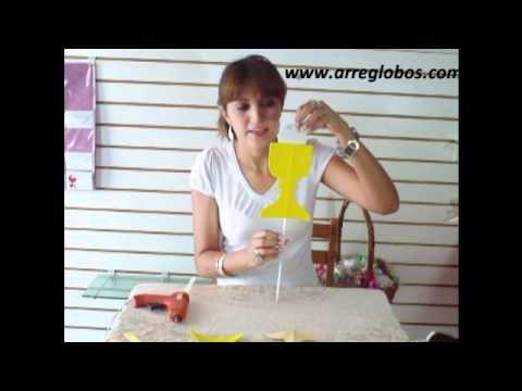 copa de foamy para primera comunion www.arreglobos.com - YouTube