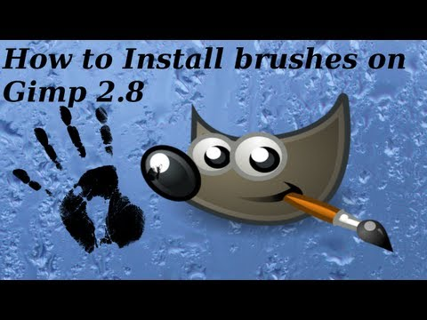 How to Install brushes on Gimp 2.8