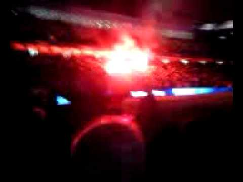 United Fans Flares United 'fans' Using Flares at