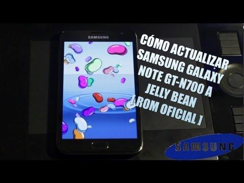 Como actualizar Samsung Galaxy Note GT-N7000 a Jelly Bean [Filtrado]