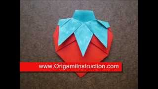 Origami Instructions Origami Strawberry