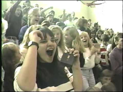 Pep Rally at Hopewell Valley Central High School (1990-91) (Raw Video)