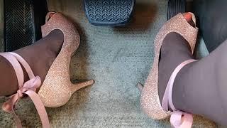Driving in heels & pantyhose 2
