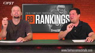 2018 Fantasy Football Running Back RB Tiers and Rankings
