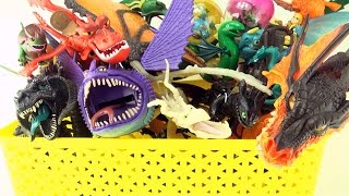 Box of Dragons collection - Dragon toy box collection - How to Train Your Dragon toys