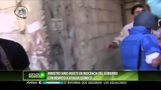 Ministro sirio insiste en inocencia del gobierno en ataque químico