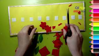 Math toy  - Làm đồ chơi góc toán : Sắp xếp theo quy tắc