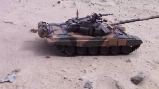 1/16 rc T-90 Heng Long offroad (desert test)