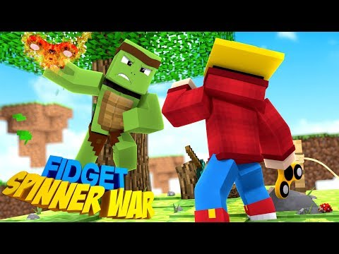 Minecraft - FIDGET SPINNER WAR - CUSTOM FIDGET SPINERS MOD