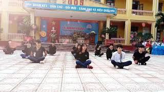 """Nhảy flashmob """" Lạc trôi - Bống bống bang bang - Ko ko Bop"""" THPT Sơn Động số 2"""
