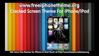 Fake Cracked Screen Theme for iPhone and iPod Touch
