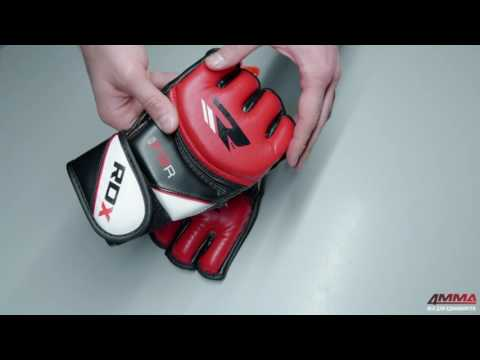 Фото:Перчатки MMA RDX Leather-X White/Red