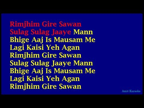 Rimjhim Gire Sawan - Kishore Kumar Hindi Full Karaoke With Lyrics video