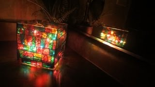 DIY Stained Glass Mosaic jar-Candle/Brushes Holder | Vase - Showpiece