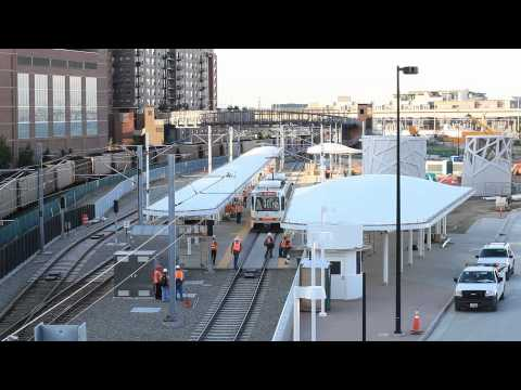 Denver Union Station Light Rail Test