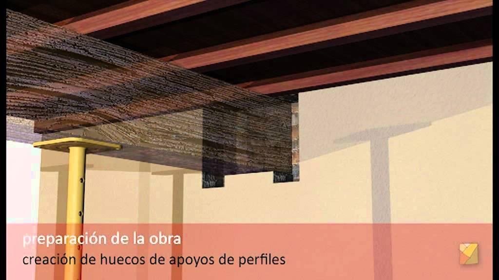 Refuerzo de viga con perfiles de acero youtube - Como colocar vigas de madera ...