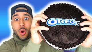 DIY GIANT OREO COOKIE TASTE TEST!!