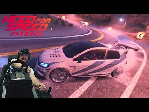 Мощные гандикап-зарубы против боссов NFS Payback на VW Golf GTI